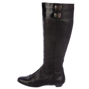 Jimmy Choo Black Harmony Knee High Boots